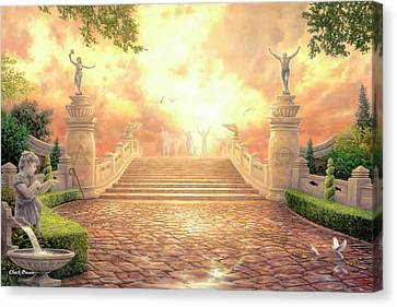 Bible Verse Canvas Print - The Bridge Of Triumph by Chuck Pinson