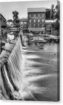 The Bridgeton Mill In Indiana - Est. 1823 - Black And White Canvas Print by Gregory Ballos