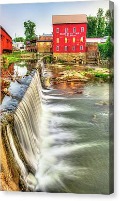 The Bridgeton Mill In Indiana - Est. 1823 Canvas Print by Gregory Ballos