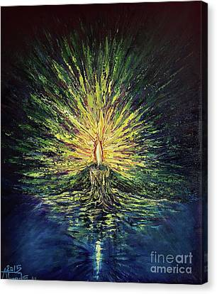 The Bright Candle Canvas Print