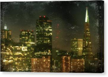 The Bright City Lights Canvas Print by Laurie Search