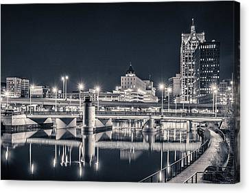 Canvas Print featuring the photograph The Bright Dark Of Night by Bill Pevlor
