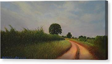 The Brighter Road Ahead Canvas Print