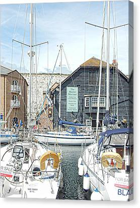 Port Town Canvas Print - The Master Mariner At Brighton Marina by Dorothy Berry-Lound