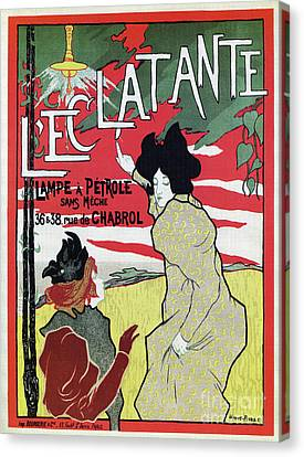 The Brilliant 1895 French Art Nouveau Ad Canvas Print by Aapshop