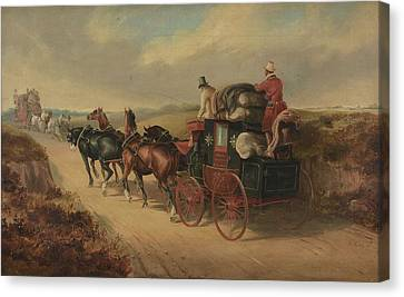 The Bristol To London Coach The Stroud Canvas Print