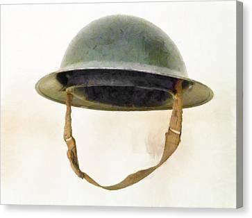 The British Brodie Helmet  Canvas Print by Steve Taylor