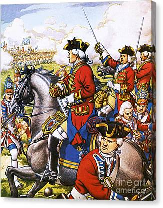 Against The War Canvas Print - The British Life Guards Clash With The French At Fontenoy In 1745 by Pat Nicolle
