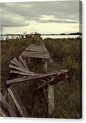 The Broken Dock Canvas Print by Ron Dubin