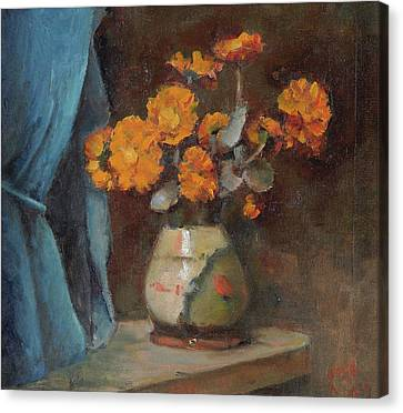 The Broken Vase Canvas Print by Alfred O'Keeffe