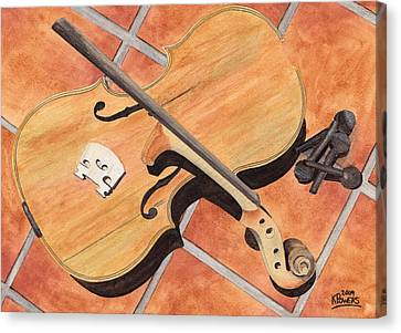 The Broken Violin Canvas Print by Ken Powers