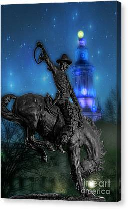 Buster Canvas Print - The Bronco Buster  by Juli Scalzi