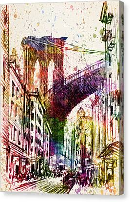 The Brooklyn Bridge 03 Canvas Print by Aged Pixel