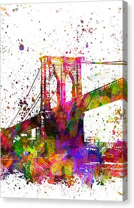 The Brooklyn Bridge 04 Canvas Print by Aged Pixel