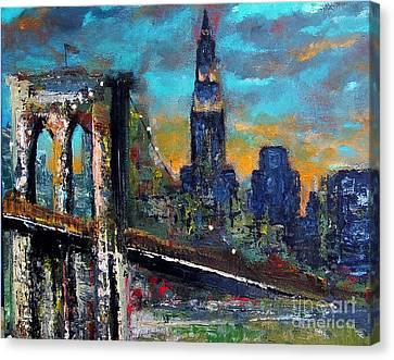 The Brooklyn Bridge Canvas Print by Frances Marino