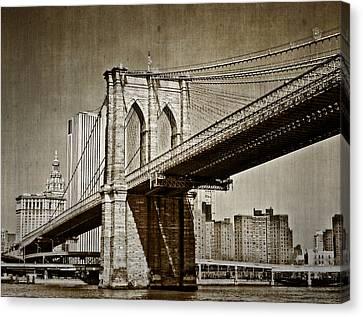 The Brooklyn Bridge Canvas Print by Kathy Jennings