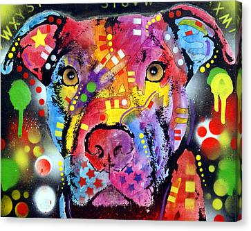 The Brooklyn Pitbull 1 Canvas Print