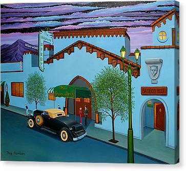 The Brown Derby Canvas Print by Tracy Dennison