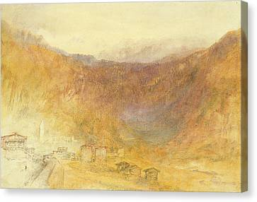 The Brunig Pass From Meiringen Canvas Print by Joseph Mallord William Turner