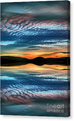 The Brush Strokes Of Evening Canvas Print by Tara Turner