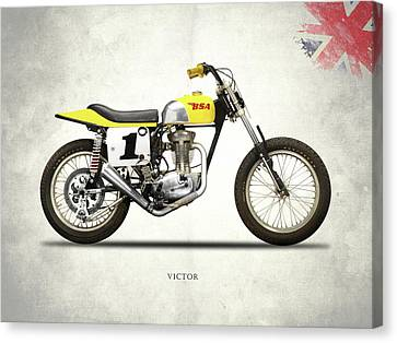 Trial Canvas Print - The Bsa 441 Victor by Mark Rogan