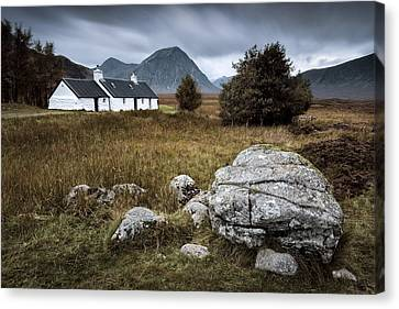 Blackrock And The Buachaille Canvas Print by Dave Bowman