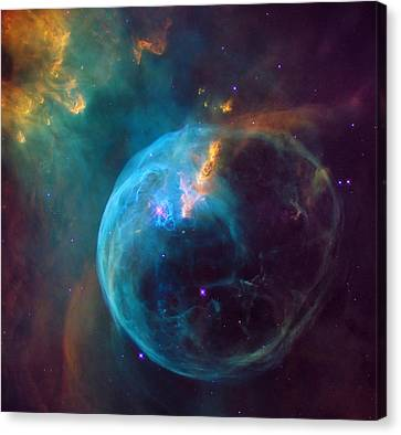 The Bubble Nebula Ngc 7653 Canvas Print by Mark Kiver