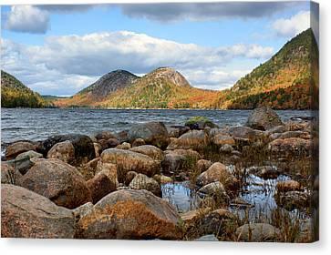 Maine Mountains Canvas Print - The Bubbles - 1 - Jordan Pond - Acadia National Park by Nikolyn McDonald