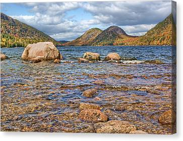 The Bubbles - 2 - Jordan Pond - Acadia National Park Canvas Print by Nikolyn McDonald