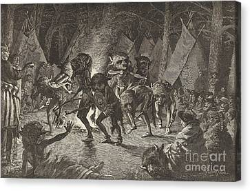The Buffalo Dance Canvas Print