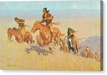 The Buffalo Runners Big Horn Basin Canvas Print by Frederic Remington