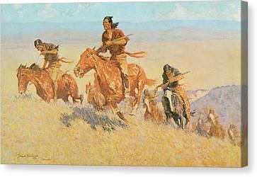 The Buffalo Runners Big Horn Basin Canvas Print