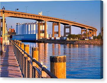 Canvas Print featuring the photograph The Buffalo Skyway by Don Nieman