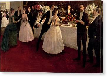 The Buffet Canvas Print by Jean Louis Forain