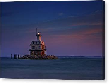 The Bug Light At Dusk Canvas Print by Rick Berk