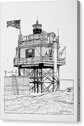 The Bug Lighthouse Canvas Print by Ira Shander