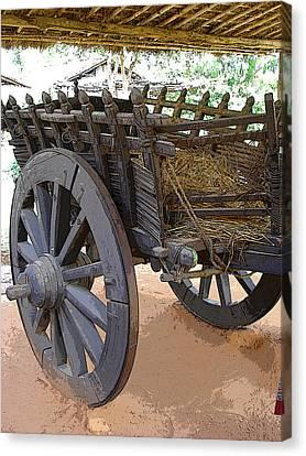 The Bullock Cart Canvas Print by Padamvir Singh