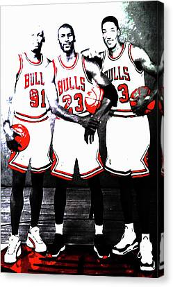 Ewing Canvas Print - The Bulls Big Three by Brian Reaves