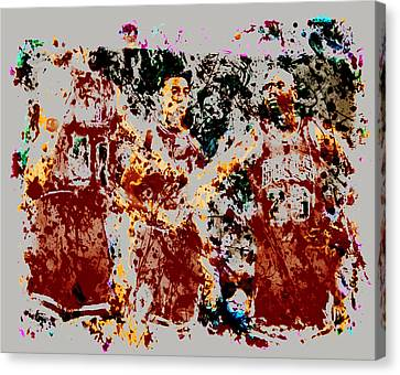 The Bulls Throwback Canvas Print by Brian Reaves
