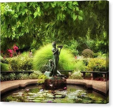 The Burnett Fountain Canvas Print by Jessica Jenney