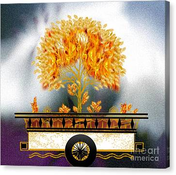 The Burning Bush Canvas Print by Belinda Threeths