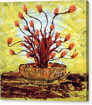 Canvas Print featuring the painting The Burning Bush by J R Seymour