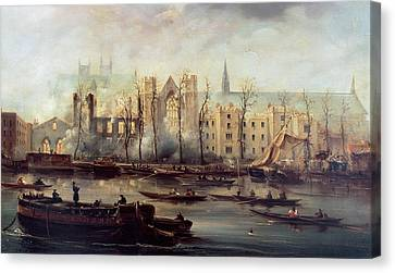 The Burning Of The Houses Of Parliament Canvas Print by The Burning of the Houses of Parliament