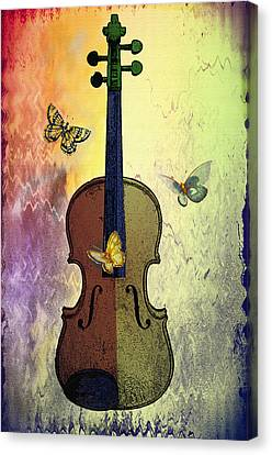 The Butterflies And The Violin Canvas Print by Bill Cannon
