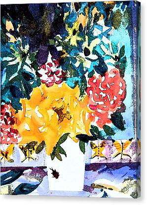The Butterfly Bouquet Canvas Print by Mindy Newman
