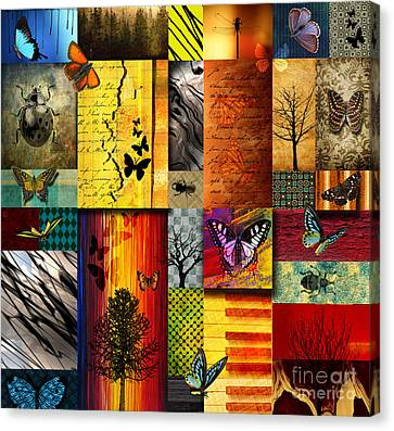 Nature Abstract Canvas Print - The Butterfly Effect by Ramneek Narang