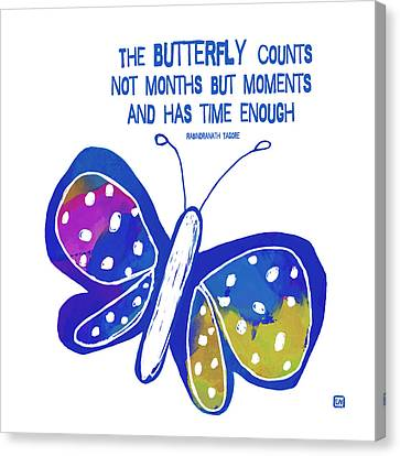 The Butterfly Canvas Print by Lisa Weedn