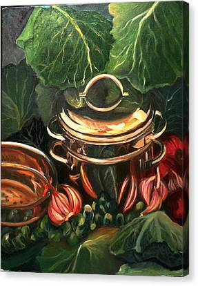 The Cabbage Pot Canvas Print by Patricia Reed
