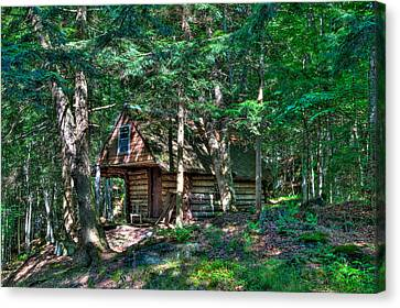 The Cabin At Ledgedale Canvas Print by David Patterson