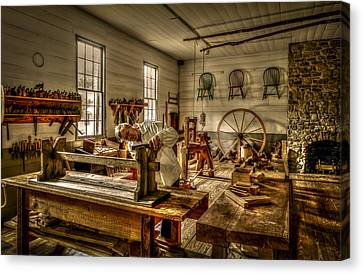 Canvas Print featuring the photograph The Cabinetmaker by David Morefield